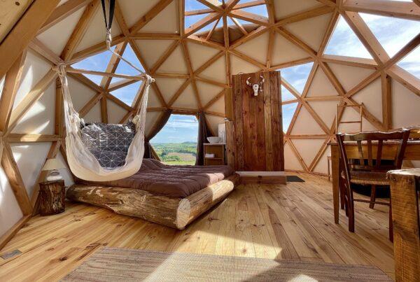 dôme géodésique bois