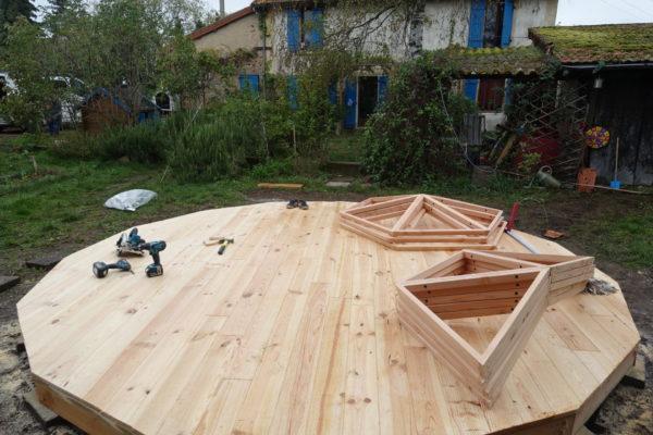 plancher dome géodésique