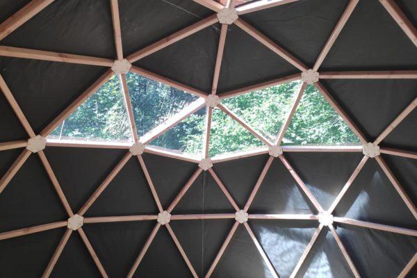toile dôme géodésique