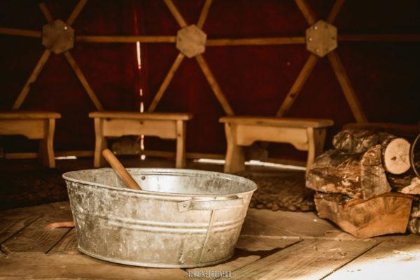 dôme sauna mobile