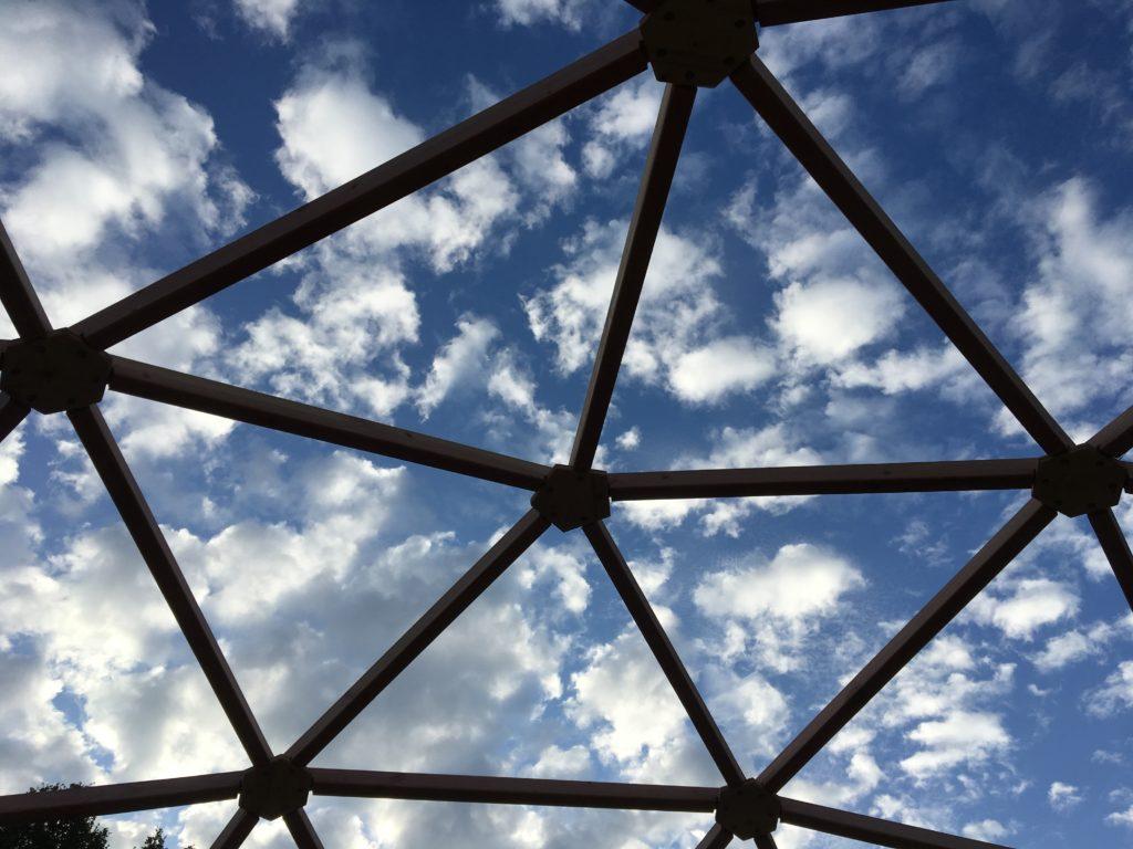 dôme géodésique permaculture