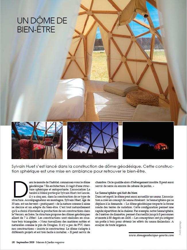 maison et jardin dôme géodésique