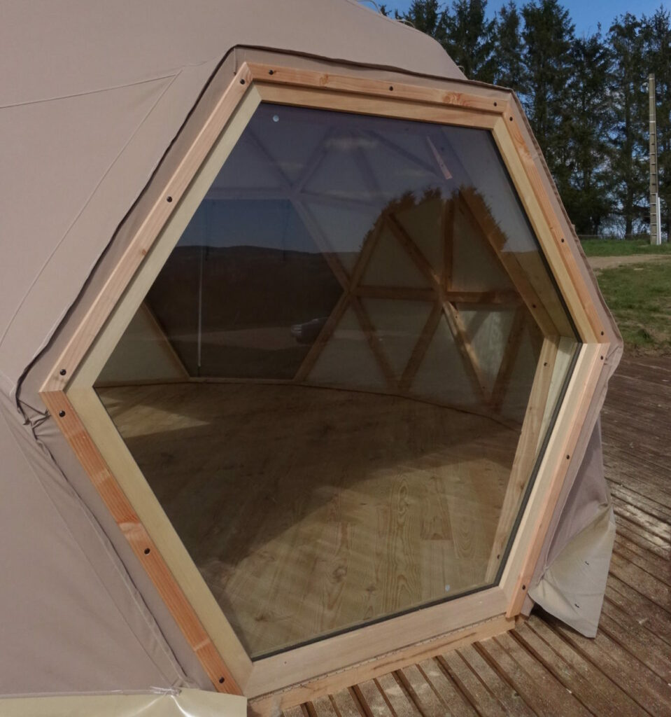 baie vitrée dôme